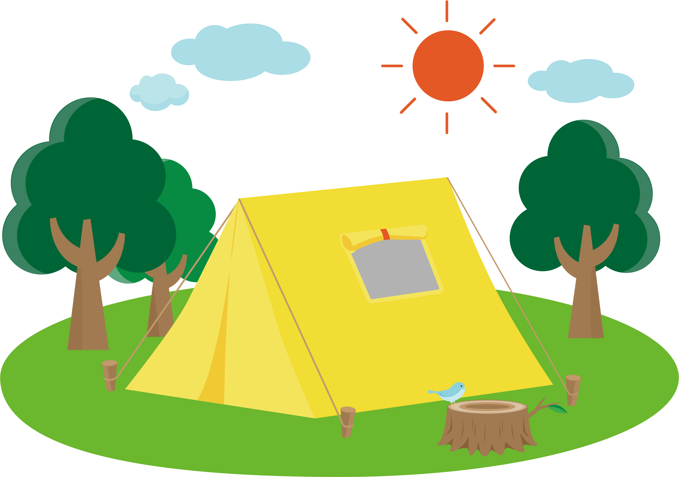 Camping sun clipart png royalty free Clipart - Campsite png royalty free