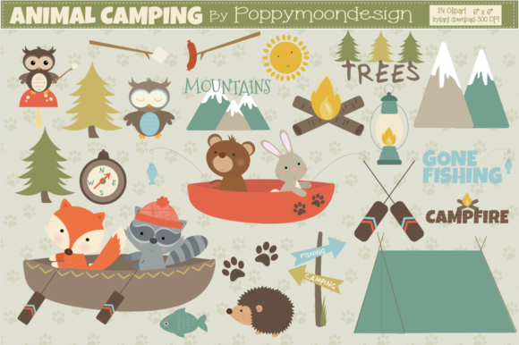 Campingcrafting clipart picture transparent library Animal Camping picture transparent library