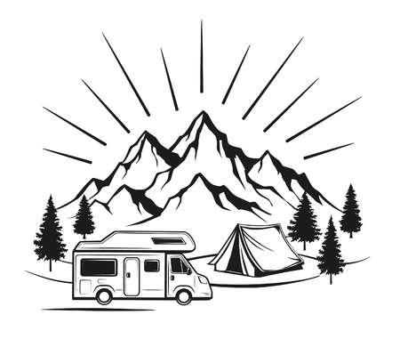 Campsite clipart black and white vector library download Camping Clipart Black And White (93+ images in Collection) Page 3 vector library download