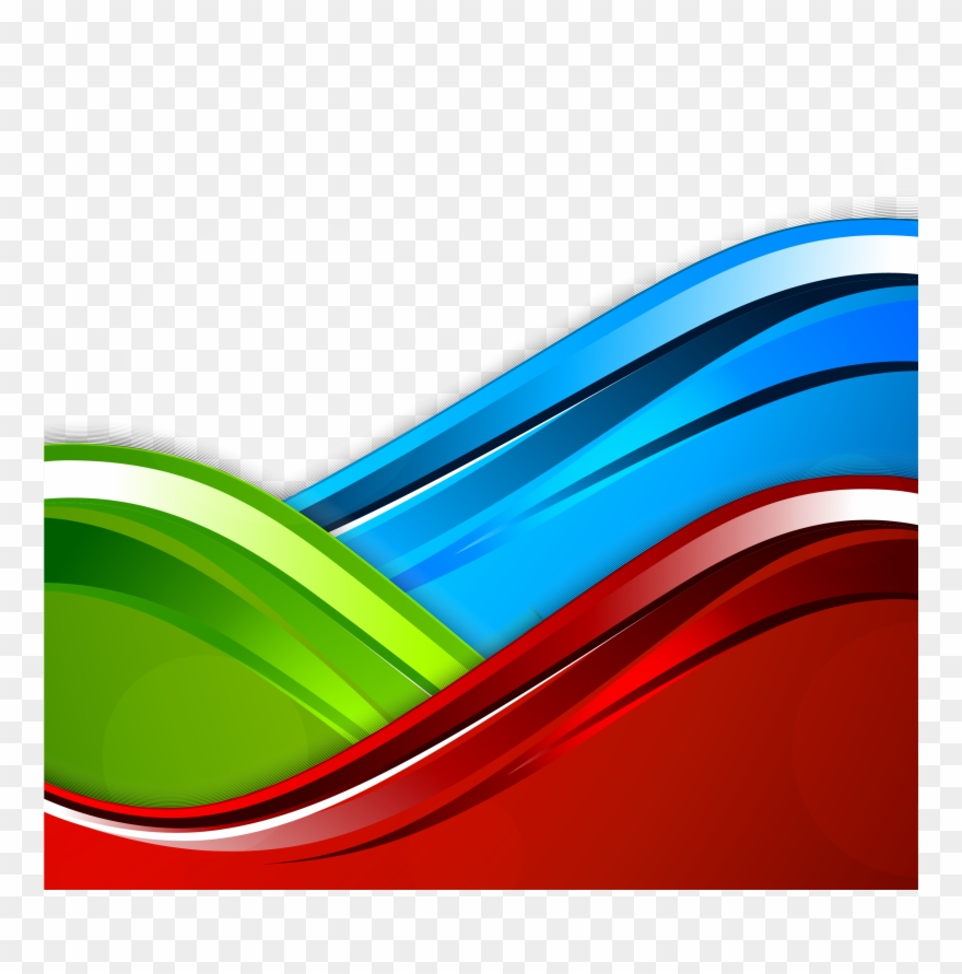 Can cliparts only be rgb clip black and white library Blue Color Curve Rgb Vector Model Clipart - Red Background Design Hd ... clip black and white library