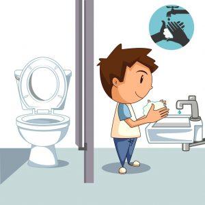 Can i go to the bathroom clipart graphic stock Public restroom alone | Kidz World Pediatrics graphic stock