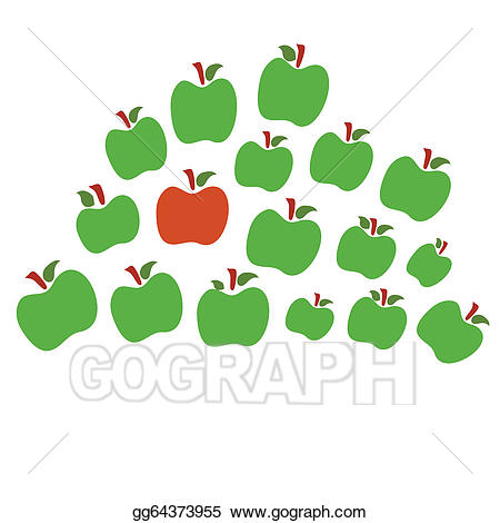 Can i have the other one clipart banner library Vector Clipart - Isolated apples one red the other green. Vector ... banner library