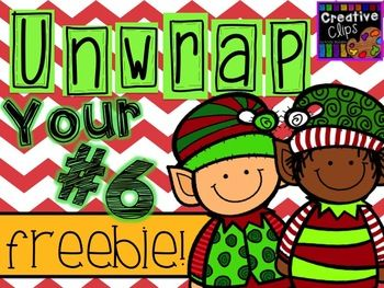 Can i have the other one clipart clipart transparent stock Unwrap your FREEBIE Number 6 {Creative Clips Digital Clipart} | Elf ... clipart transparent stock