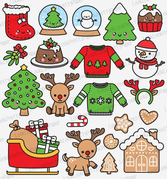 Can i use clipart from another website svg library stock Premium Vector Clipart - Kawaii Christmas - Another Cute Chrismas ... svg library stock