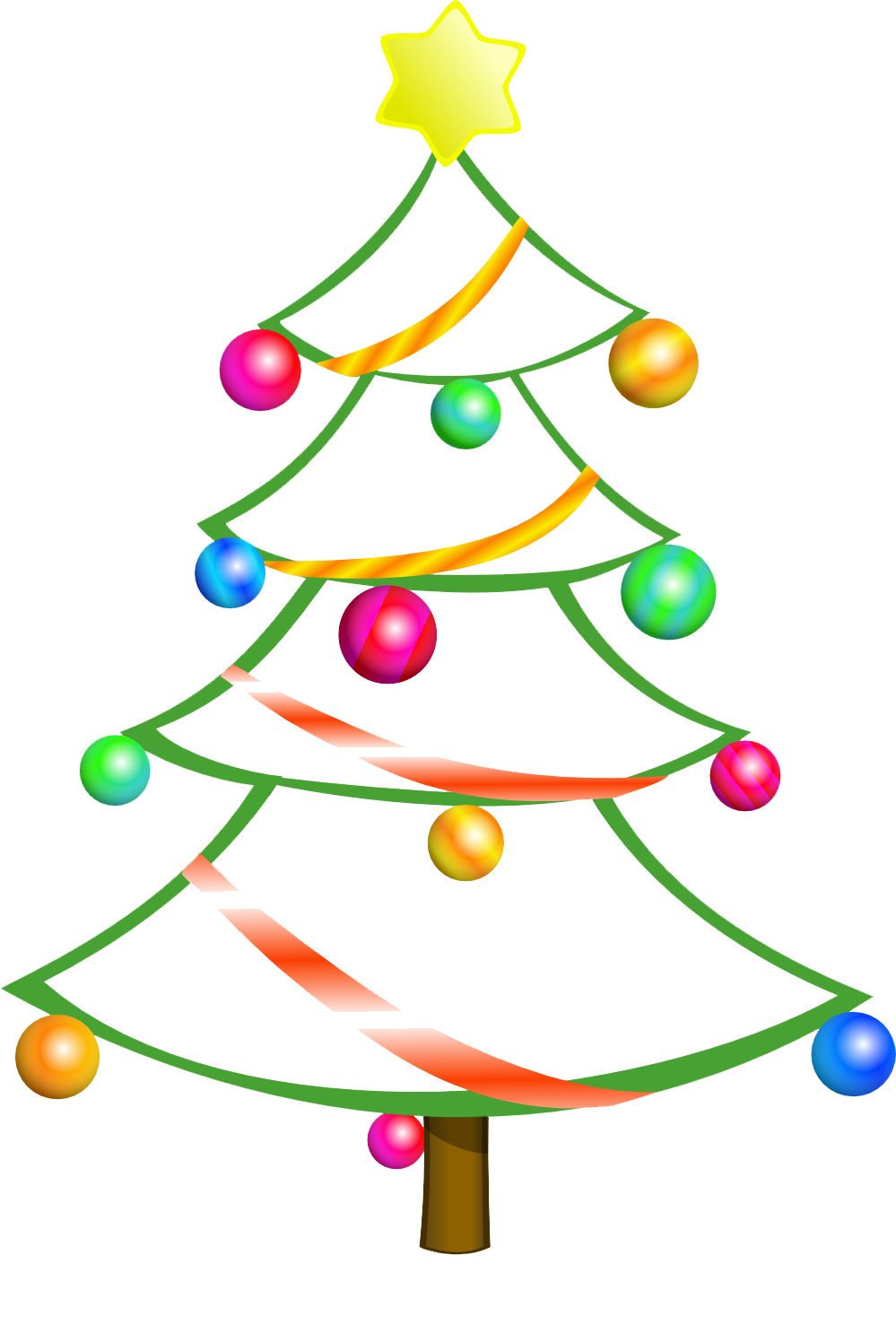 Black and white clipart christmas tree image transparent library Commercial Use Clipart | Free Download Clip Art | Free Clip Art ... image transparent library