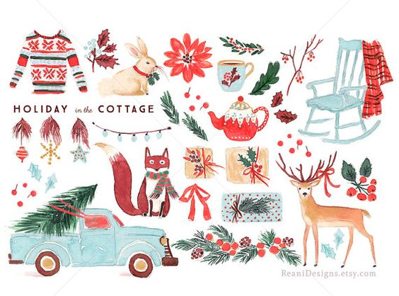 Can you use clipart for commercial use svg black and white library Holiday in the Cottage - Clip Art for personal and commercial use ... svg black and white library