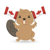 Canada animals clipart png library download Symbol Symbols Beaver Canada Flag Maple Leaf Horns Horn Teeth Tooth ... png library download