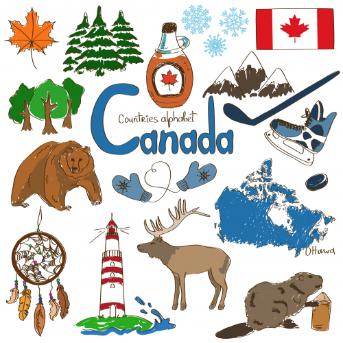 Canada animals clipart clipart black and white stock Canada Culture Map Printable | Show Ideas: Without Borders ... clipart black and white stock