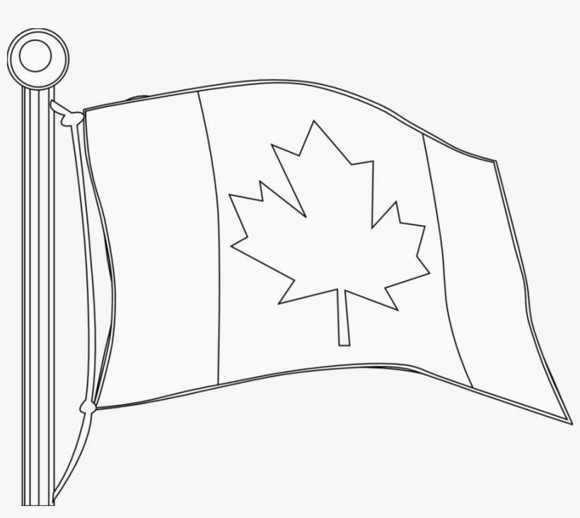 Canadian flag clipart black and white free clipart black and white library Canadian Flag Clip Art Black And White Clipart Flag - Canada Clip ... clipart black and white library