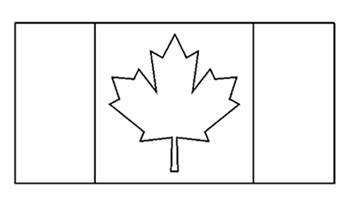Canadian flag clipart black and white free clip art freeuse Canadian Flag - Free Printable - Colouring Pages clip art freeuse