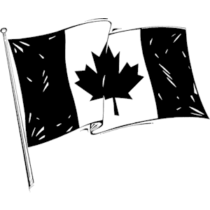 Canadian flag clipart black and white free svg download Canadian Flag clipart, cliparts of Canadian Flag free download (wmf ... svg download