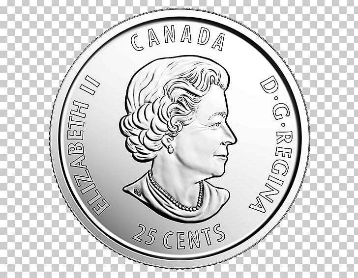 Canadian quarter clipart graphic black and white library Coin Wrapper Canada Quarter Cent PNG, Clipart, Anniversary, Black ... graphic black and white library