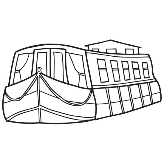 Narrowboat clipart clipart free stock Erie Canal Boats Coloring Page | Canal NY | Canal boat, Erie canal ... clipart free stock