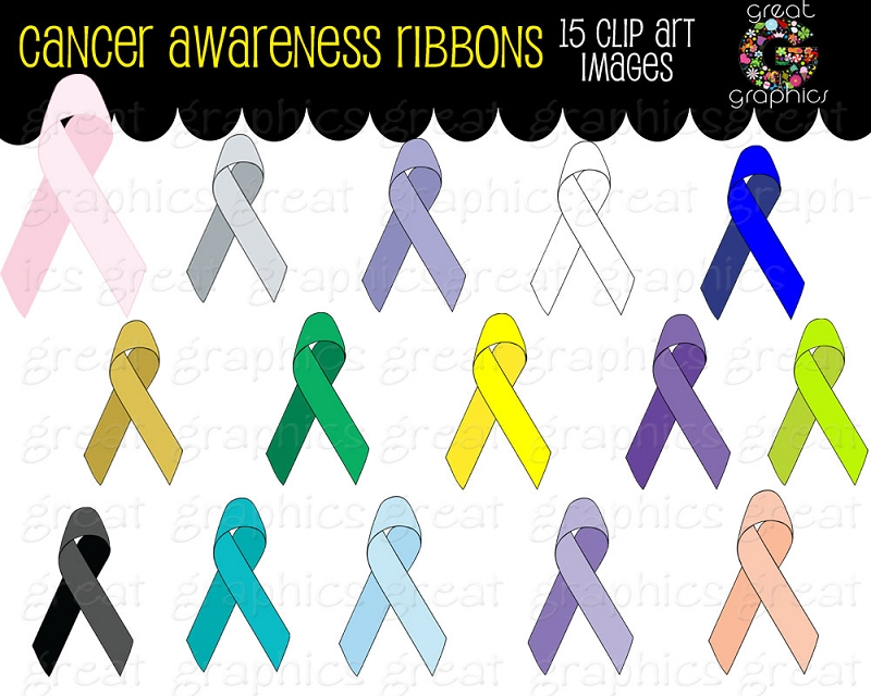 Cancer awareness ribbon clip art banner freeuse Cancer Ribbon Clip Art Digital Clip Art Cancer Awareness Ribbons ... banner freeuse