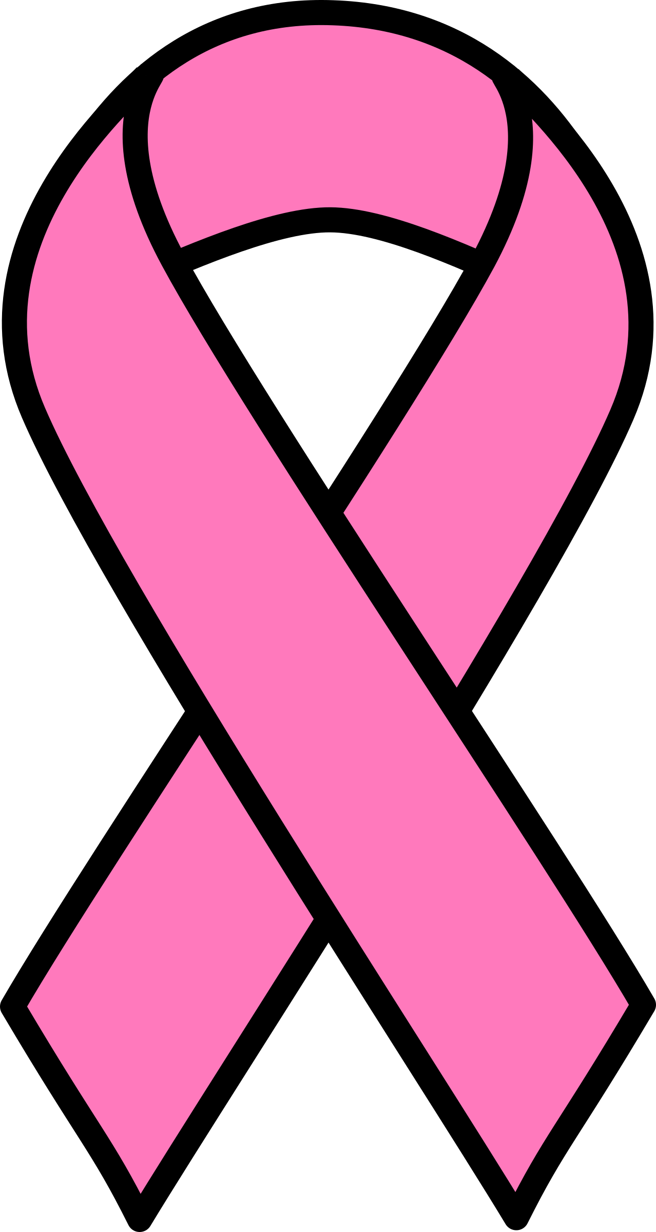 Awareness ribbon with crown clipart image free library Breast cancer awareness ribbon clip art 3 - Clipartix image free library