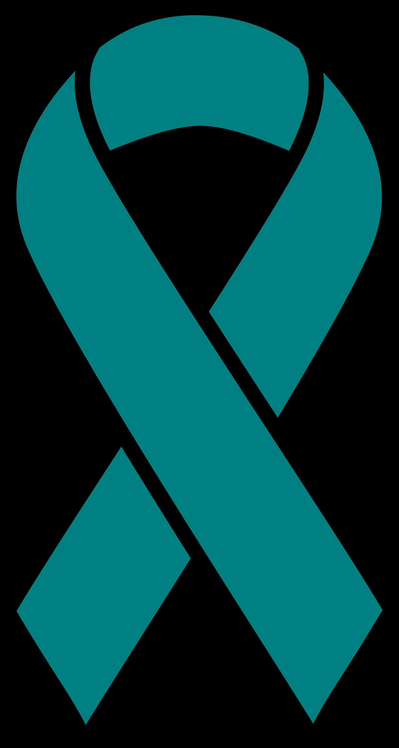 Cancer ribbon heart clipart image stock Clipart - Teal Ovarian Cancer Ribbon image stock