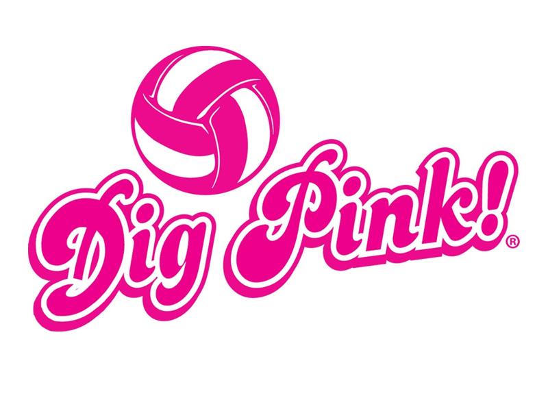 Cancer ribbon with volleyball clipart image freeuse library DIG PINK: Volleyball Dig Pink Match Set For Oct. 30 vs. Coker ... image freeuse library