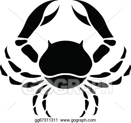 Cancer zodiac clipart black and white EPS Vector - Black cancer zodiac star sign. Stock Clipart ... black and white