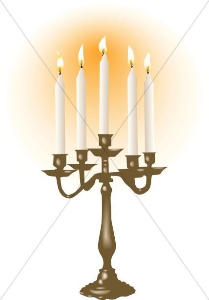 Candelabra clipart picture free library White Candles in Candelabra | Church Candle Clipart picture free library