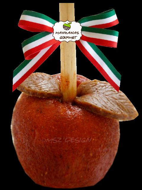 Row of apple pie clipart clip art free download Manzana cubierta con pulpa de tamarindo y chile en polvo, decorada ... clip art free download