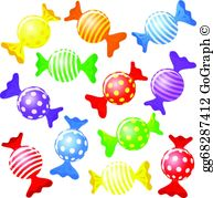 Candies clipart picture royalty free Candy Clip Art - Royalty Free - GoGraph picture royalty free