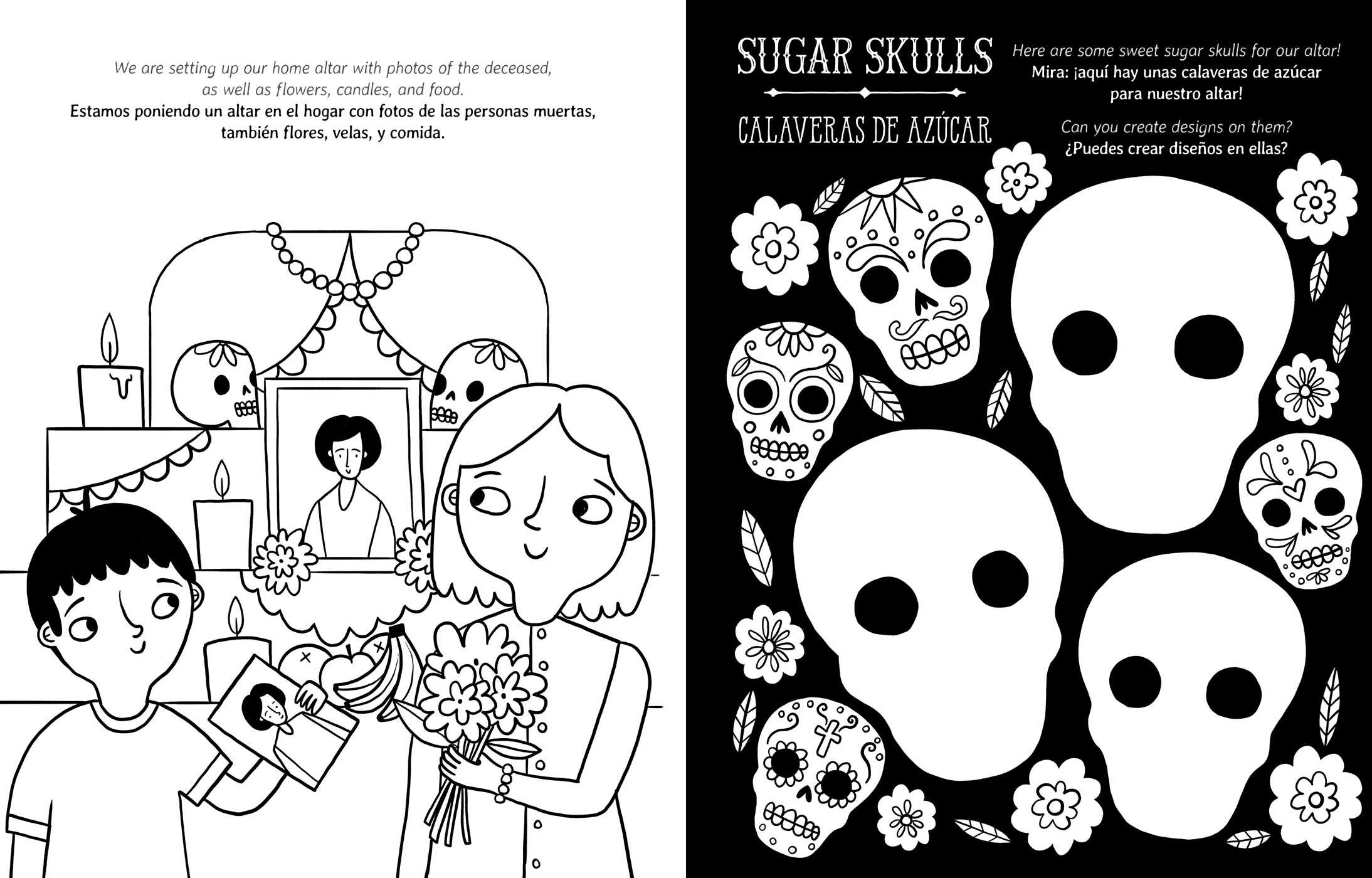 Candle clipart black and white altar dia de los muertis graphic transparent Crayola Day of the Dead/Día de los Muertos Coloring Book | Book by ... graphic transparent