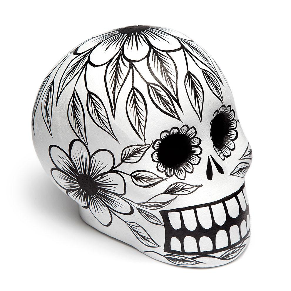 Candle clipart black and white altar dia de los muertis vector royalty free library Black Day of the Dead Skull - Art Object vector royalty free library