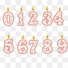 Candle number clipart svg library download Number Candle, Candle, Lovely Candles PNG Clipart Image and PSD File ... svg library download