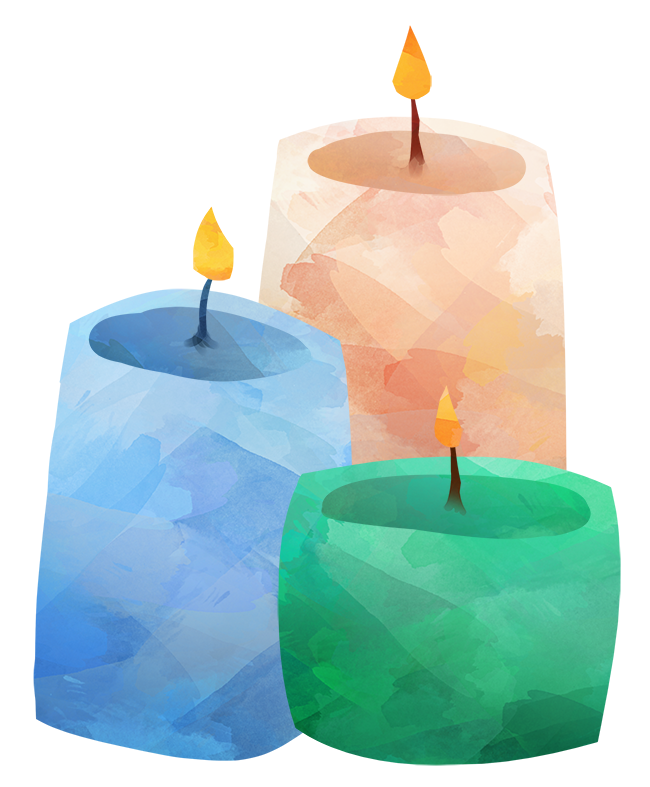 Candles pictures clipart vector black and white stock Watercolor Candles Clipart By Digitalartsi   TheHungryJPEG.com vector black and white stock