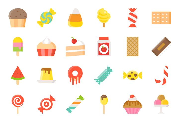 Candy and sweets clipart set free picture transparent Sweets and candy icon set 2/2 flat style - Download Free Vector Art ... picture transparent