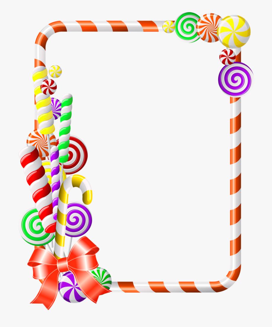 Candy cane clipart frame svg Sweet Border Clipart Candy Cane Clip Art - Candy Border Clipart Free ... svg