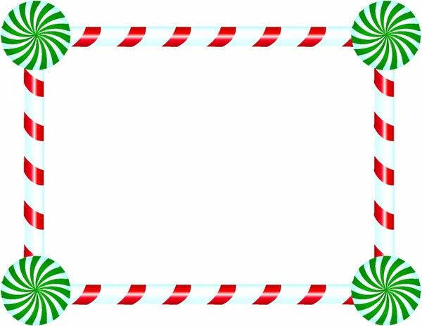 Candy cane clipart frame jpg stock Candy Cane and Peppermint Frame Free vector in Adobe Illustrator ai ... jpg stock