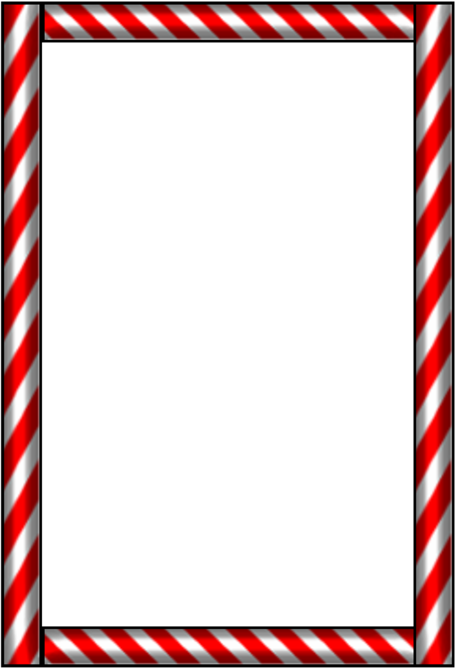 Candy cane clipart frame