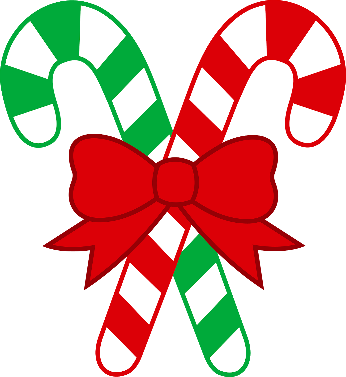 Candy cane clipart vector clip transparent download Red and Green Christmas Transparent PNG Candy Cane Clipart ... clip transparent download