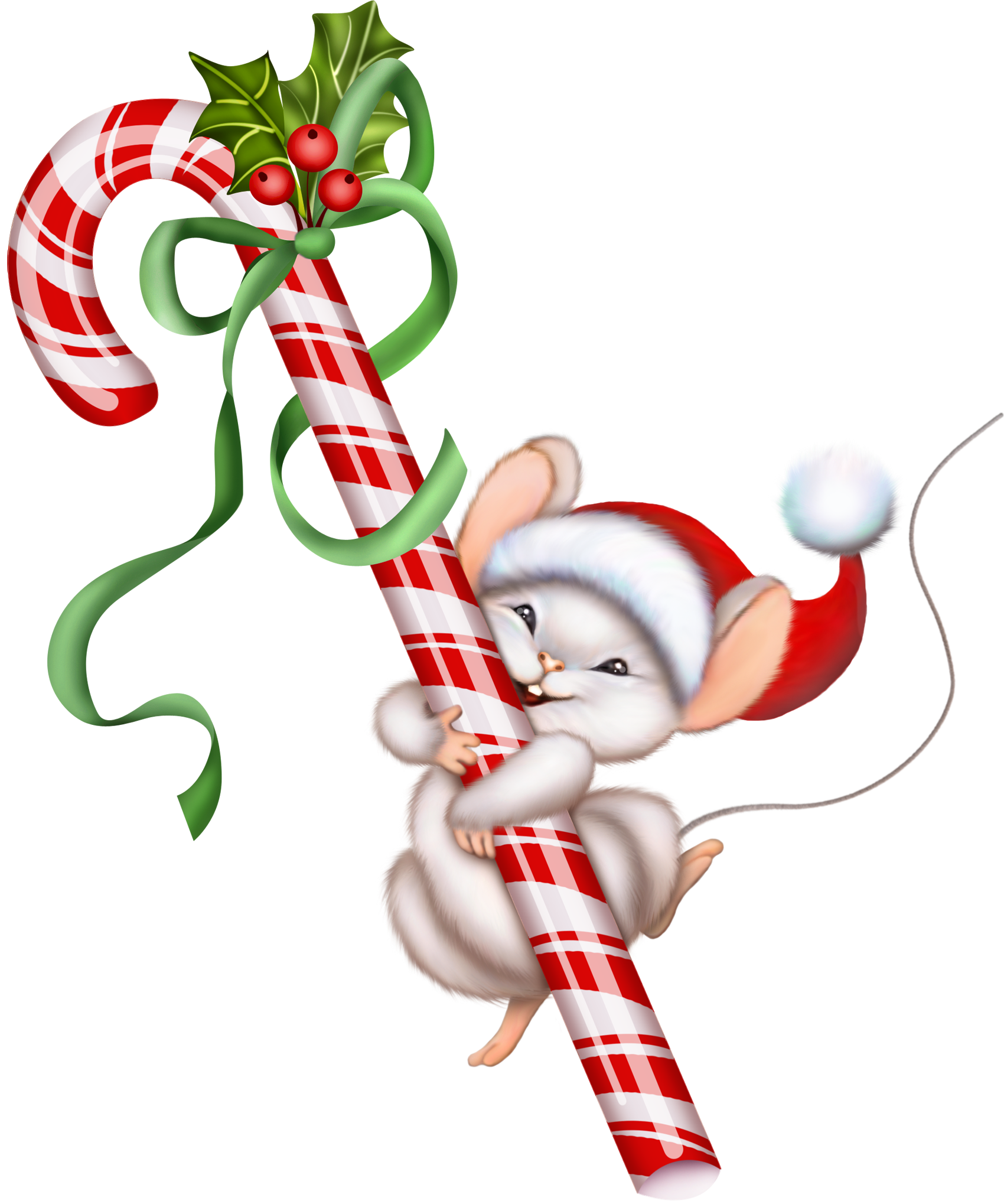Christmas cross clipart picture black and white download Christmas Candy Cane and Mouse PNG Clipart | Christmas Clip Art 2 ... picture black and white download