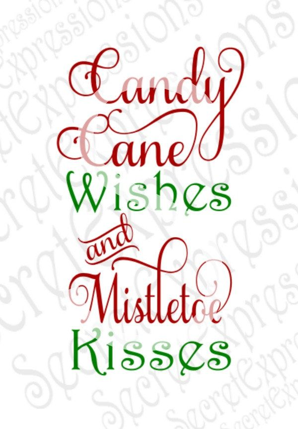 Candy cane kisses clipart png Candy Cane Wishes & Mistletoe Kisses Svg, Christmas, Misteltoe ... png