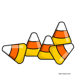 Candy corn clipart free vector black and white Free candy corn pieces clipart | Stickers 4 | Halloween clipart free ... vector black and white