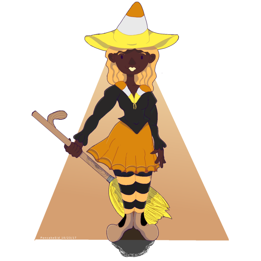 Candy corn clipart halloween clip royalty free library Candy Corn Witch- Halloween 2017 by PancakeSid on DeviantArt clip royalty free library