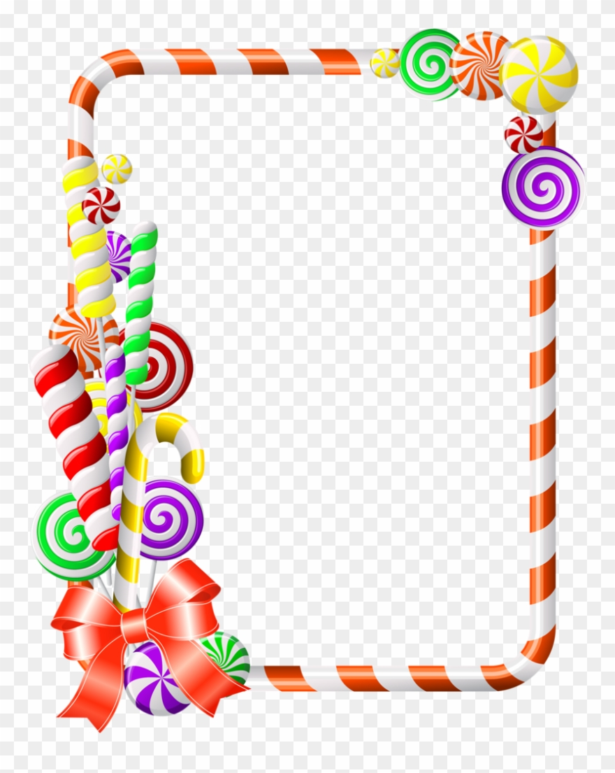 Candy crush clipart cane graphic download Sweet Border Clipart Candy Cane Clip Art - Candy Crush Photo Frame ... graphic download