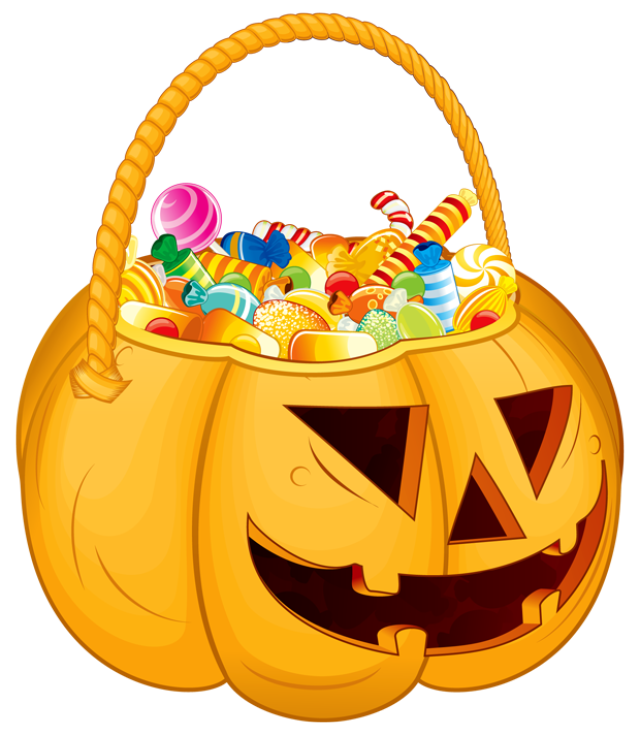 Free halloween candy clipart image free download 28+ Collection of Halloween Candy Basket Clipart | High quality ... image free download