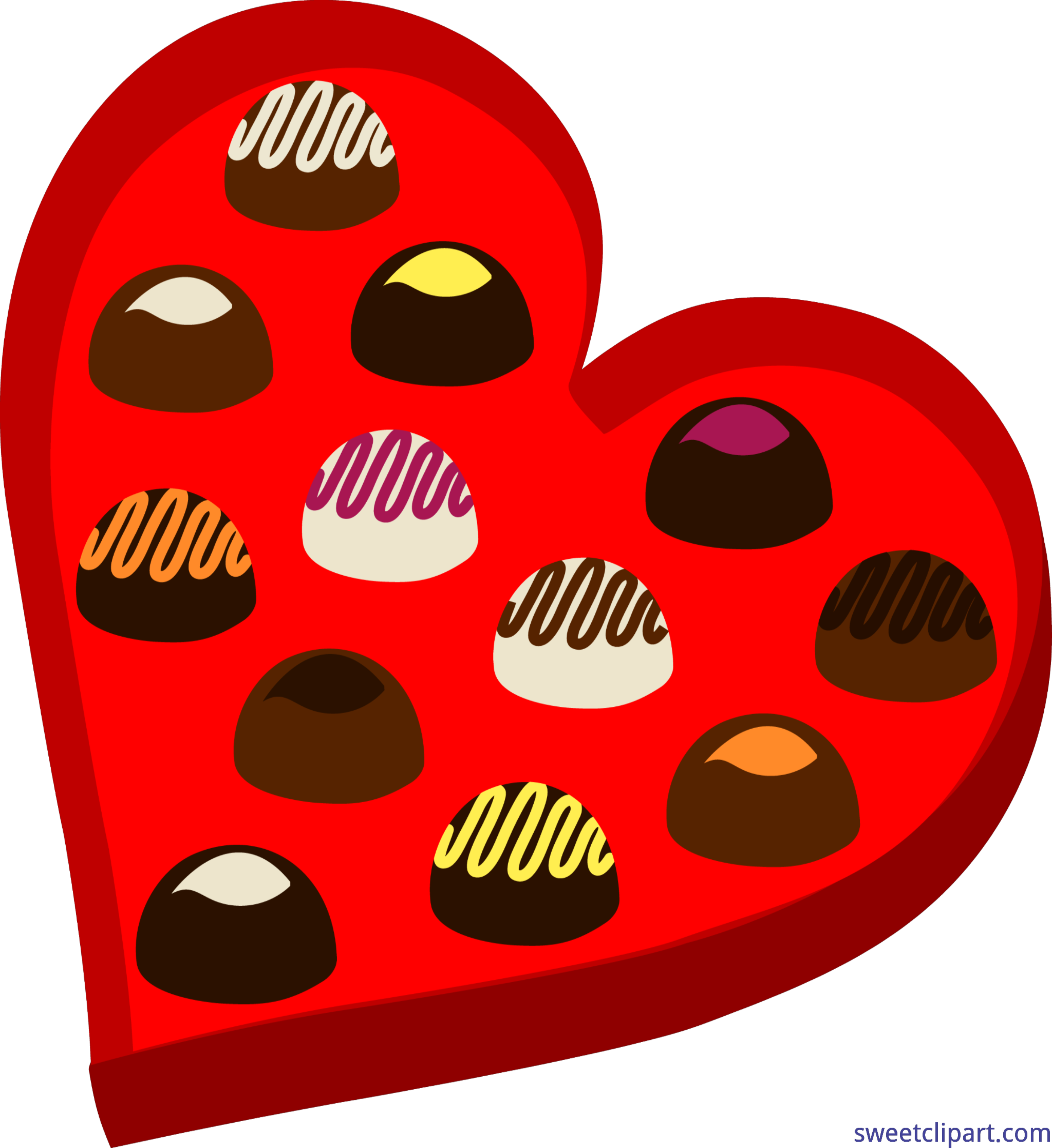 Heart candy clipart clipart royalty free library Valentines Chocolate Heart Box Clip Art - Sweet Clip Art clipart royalty free library