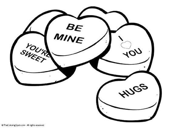 Candy hearts clip art svg royalty free library 10 Valentine Printable Free Clipart Hearts Cartoons and Coloring ... svg royalty free library