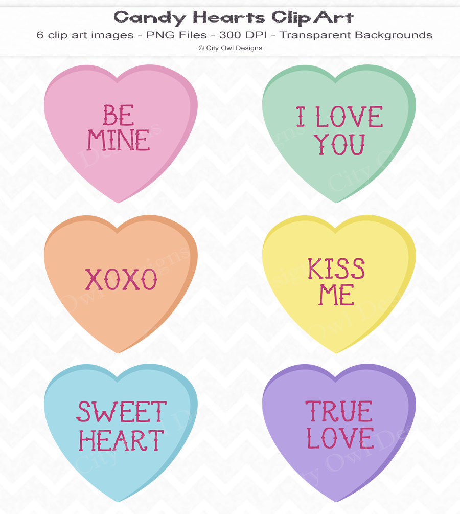 Candy hearts clip art clip library library Candy hearts clipart - ClipartFest clip library library