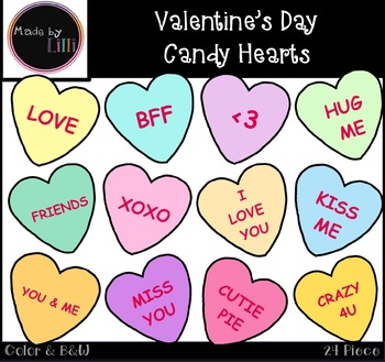 Candy hearts clipart clip art royalty free download Valentine\'s Day Candy Hearts Clipart clip art royalty free download