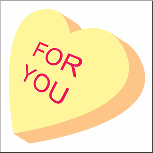 Candy hearts clipart png free library Clip Art: Candy Heart Yellow Color I abcteach.com | abcteach png free library
