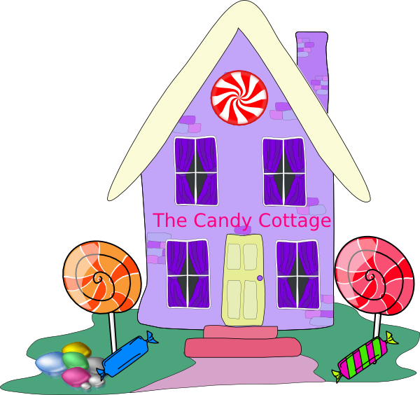 Candy house clipart black and white download Cottage Clip Art at Clker.com - vector clip art online, royalty free ... black and white download