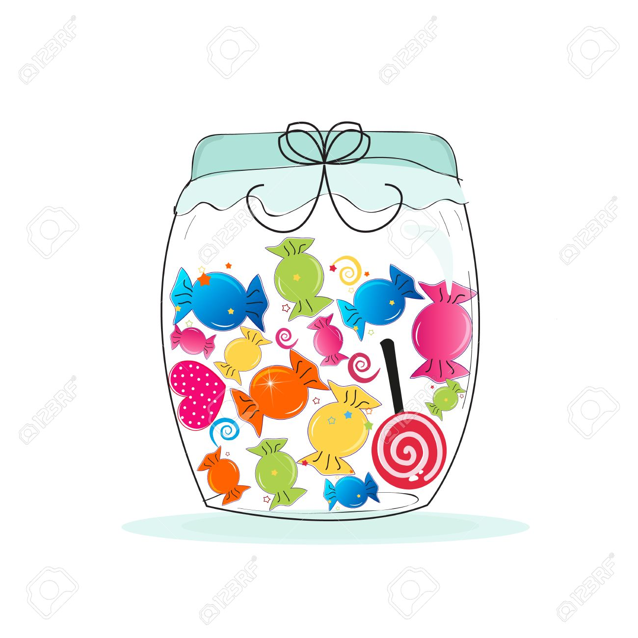 Candy jar clipart clip library library Candy jar clipart 7 » Clipart Station clip library library