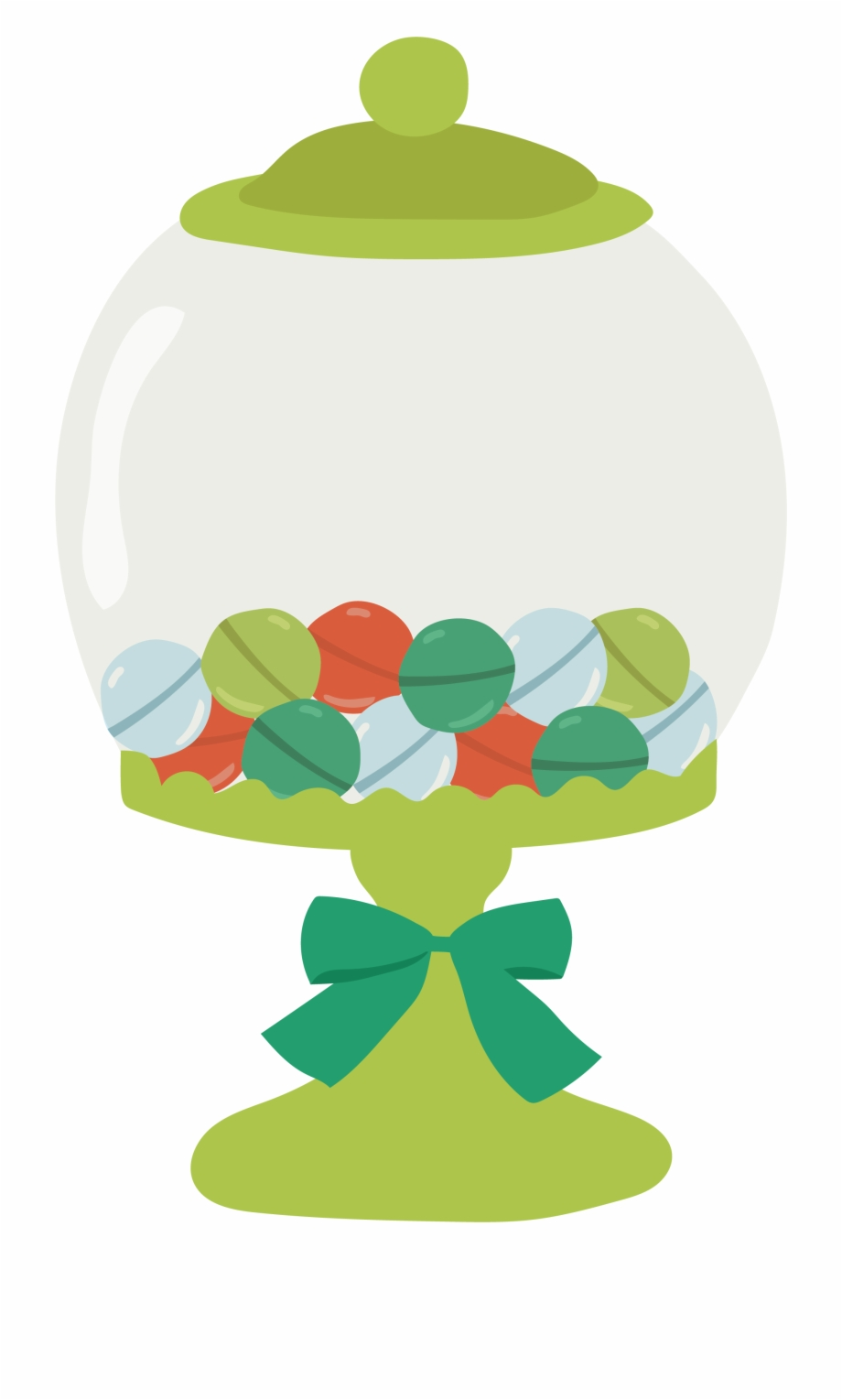 Candy jar clipart png download Cotton Candy Lollipop Clip Art Green Glass Candy Jar - Jar Of Candy ... png download