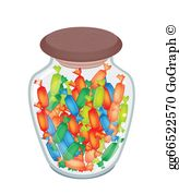 Candy jar clipart banner freeuse download Candy Jar Clip Art - Royalty Free - GoGraph banner freeuse download