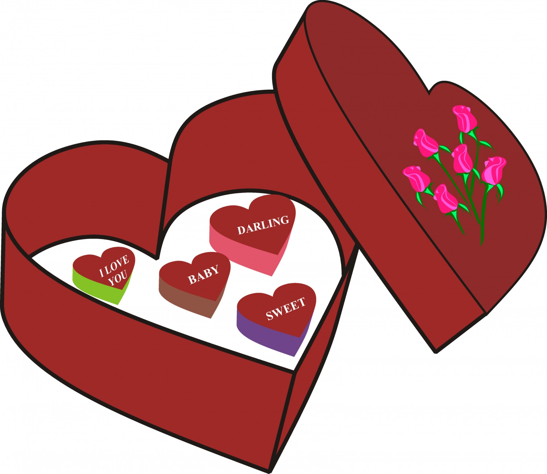 Candy love clipart picture royalty free download Valentines,candy,love,flowers,red - free photo from needpix.com picture royalty free download